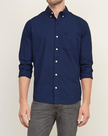 Mens Dot Print Shirt