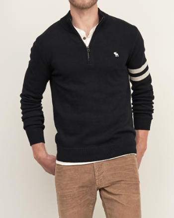 Mens Mockneck Half-Zip Sweater