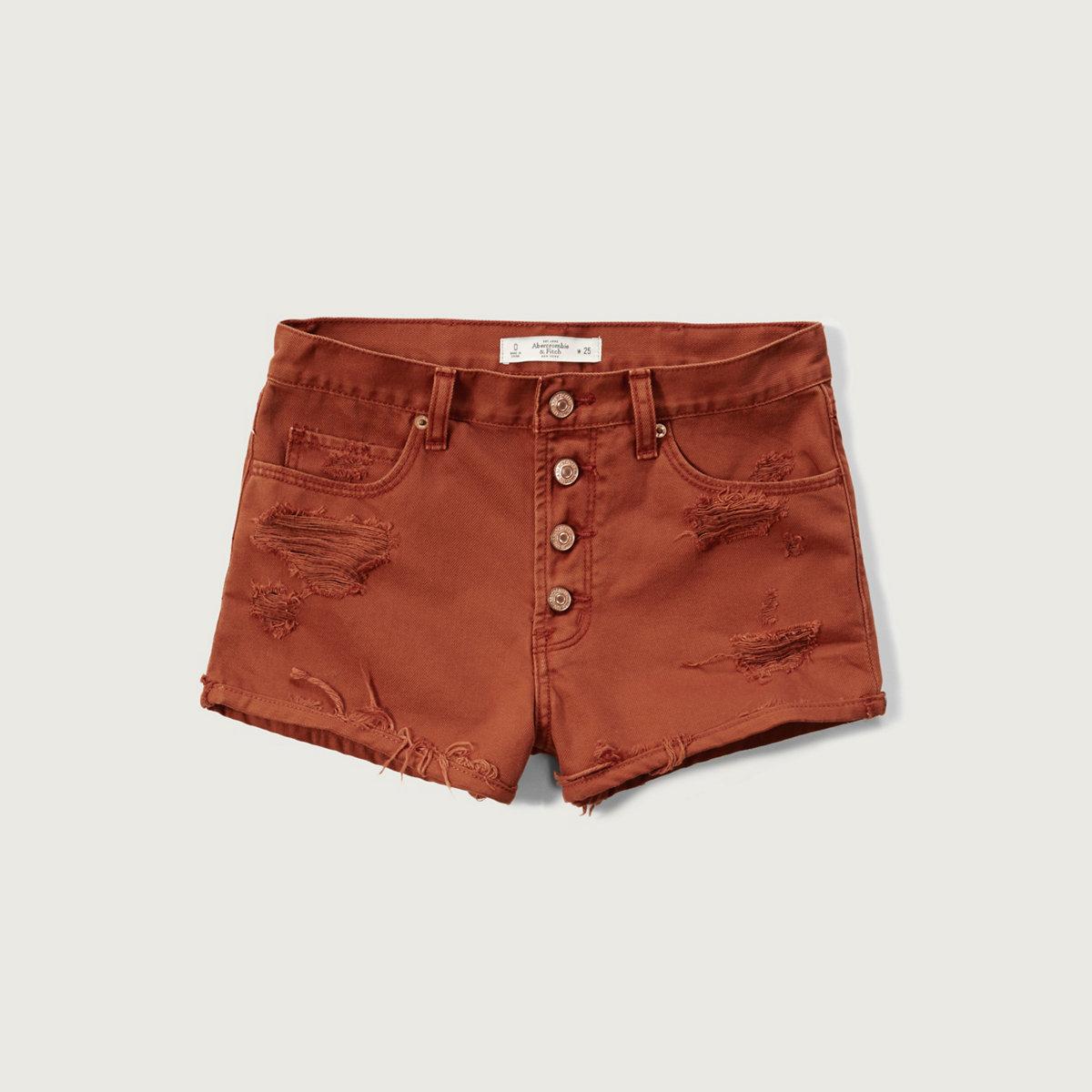 High Rise 2 Inch Rigid Denim Shorts