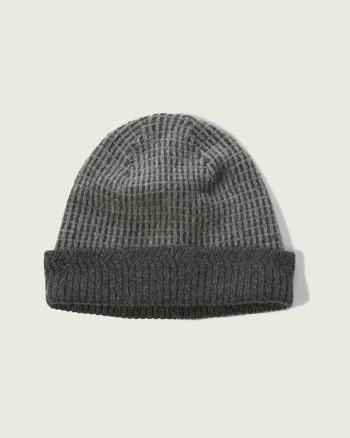 Mens Foldover Wool-cashmere Beanie