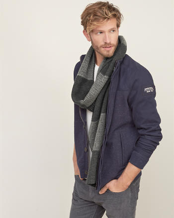 ANF Colorblock Wool-cashmere Scarf
