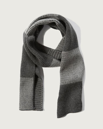 Mens Colorblock Wool-cashmere Scarf