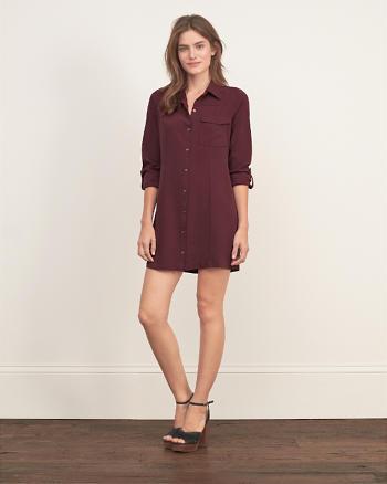 ANF A&F Collection Silk Shirt Dress