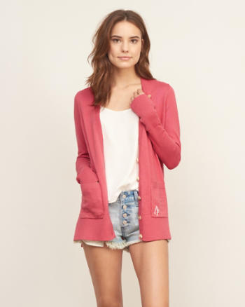 Womens Easy Boyfriend Cardigan