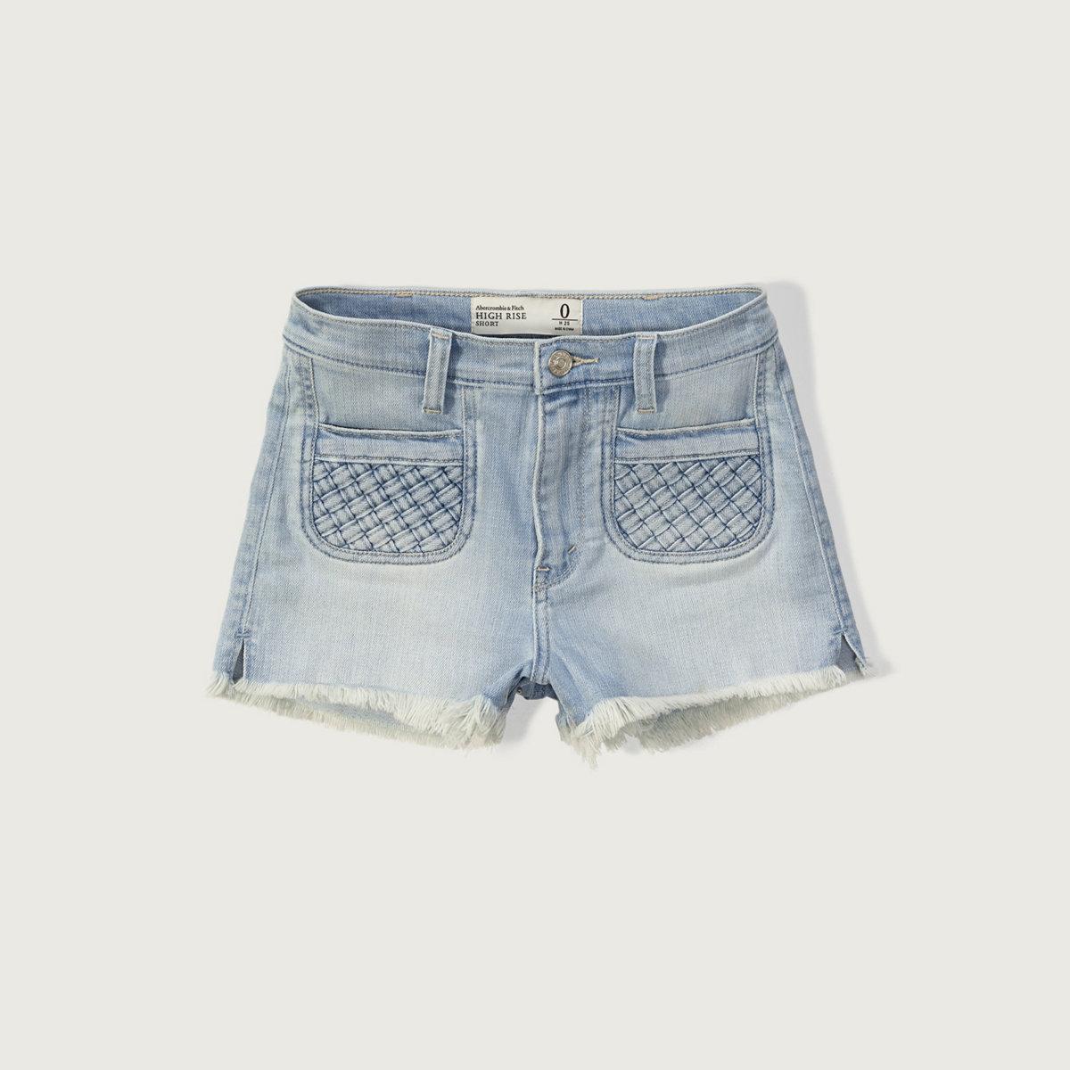 High Rise 2 Inch Denim Shorts