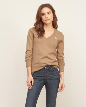 Womens Iconic V-neck Sweater