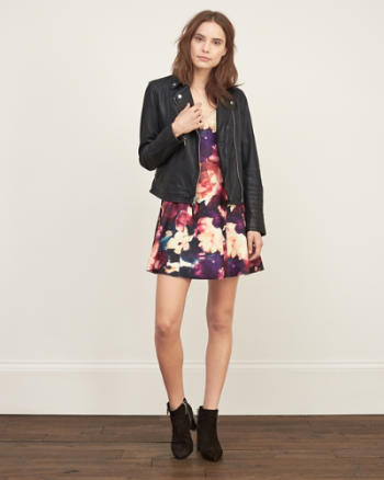 Womens Floral Neoprene Dress