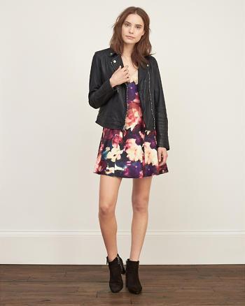 ANF Floral Neoprene Dress
