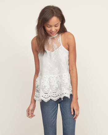 Womens Lace Panel Easy Cami