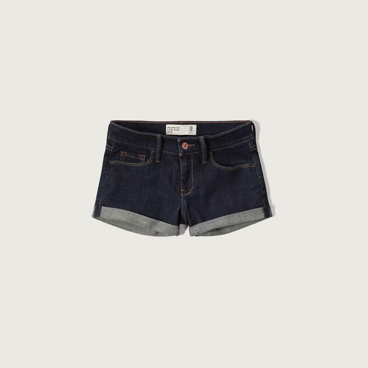 Low Rise 2 Inch Denim Shorts