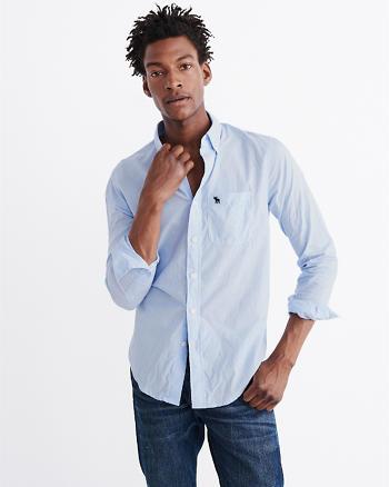 ANF Iconic Poplin Shirt