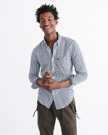 ANF Check Poplin Shirt