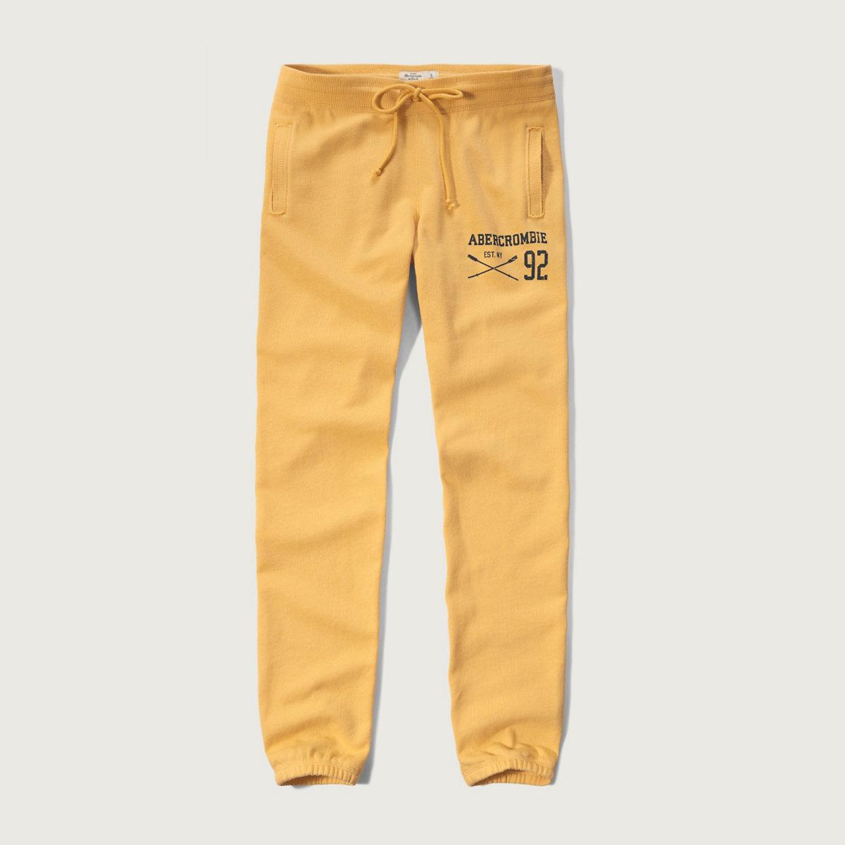 A&F Banded Fleece Sweatpants