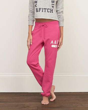 Womens A&F Banded Fleece Sweatpants