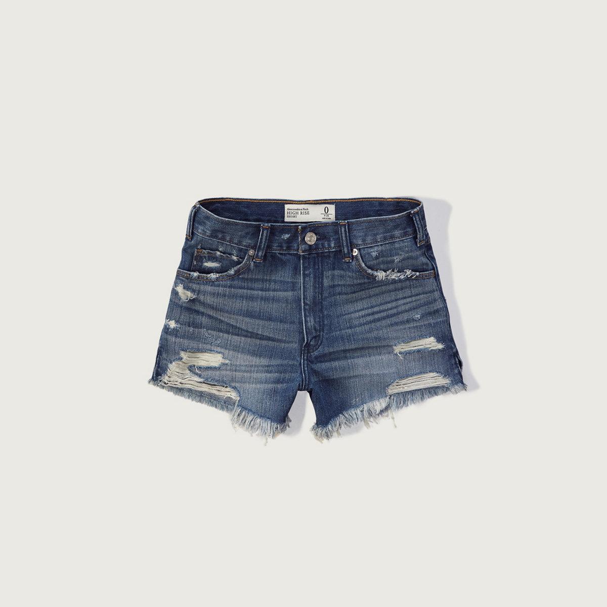 High Rise 4 Inch Denim Shorts