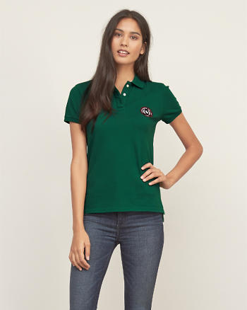 ANF Embroidered Logo Slim Polo