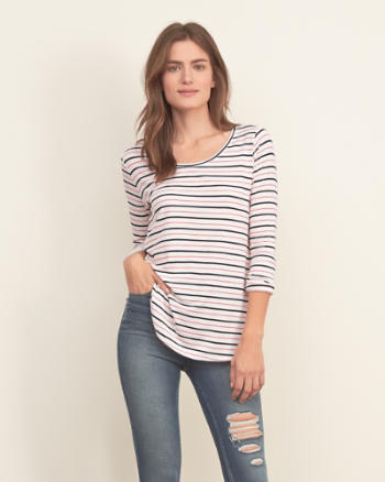 Womens Easy Long Sleeve Tee