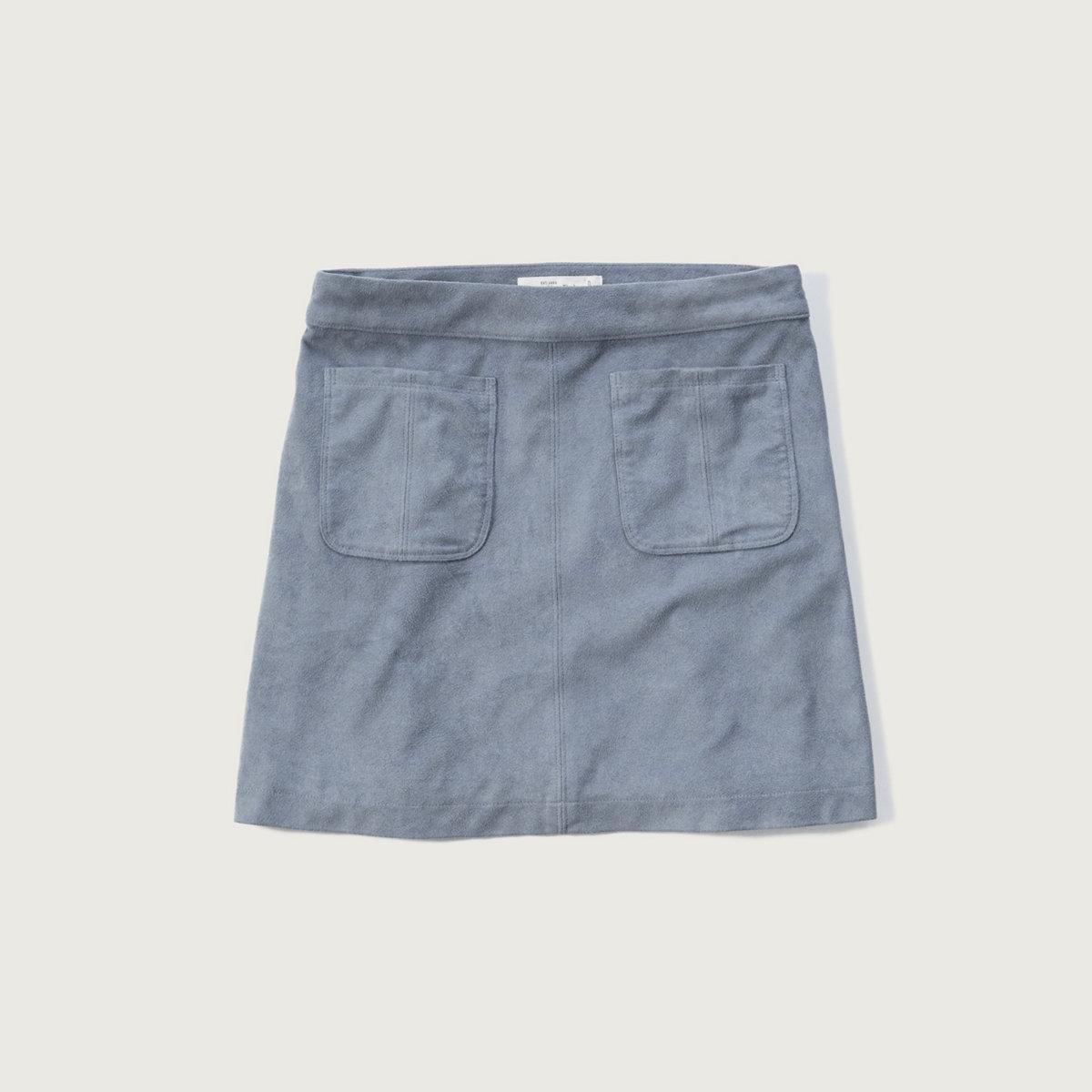 Pocket Suede Skirt