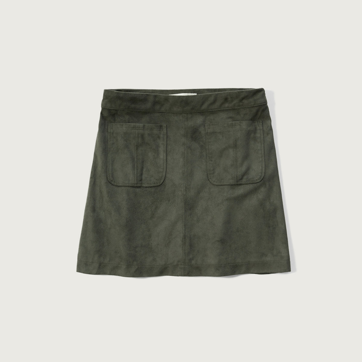 Pocket Faux Suede Skirt