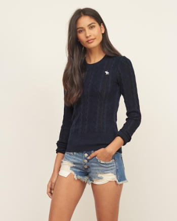 Womens Slim Crew Neck Sweater