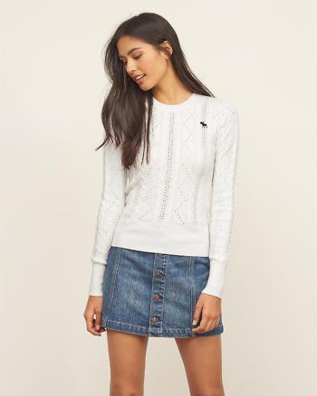 ANF Slim Crew Neck Sweater