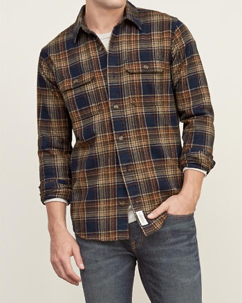 ANF Plaid Cotton Shirt