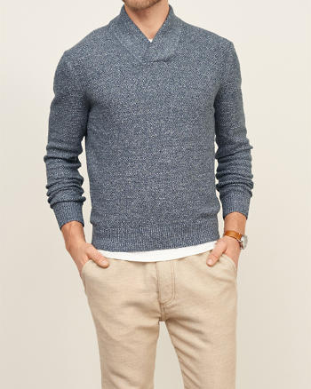 ANF Textured Shawl Sweater