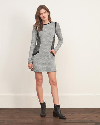 ANF Textured Knit Dress