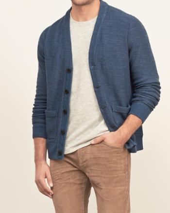 Mens Button-down Fleece Cardigan
