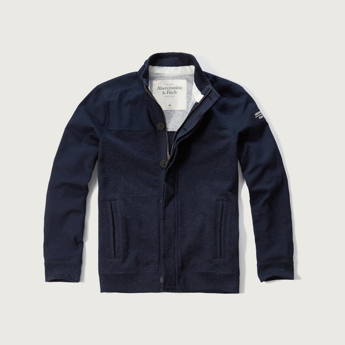 Contrast Mockneck Jacket