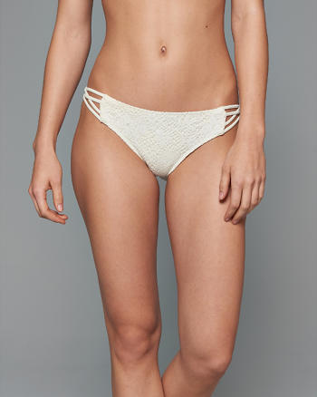 ANF Lace Strappy Side Bikini Bottom