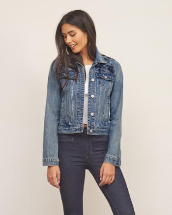 Womens Embroidered Denim Jacket