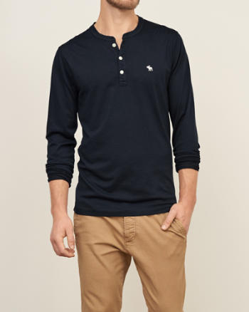 Mens Iconic Jersey Henley