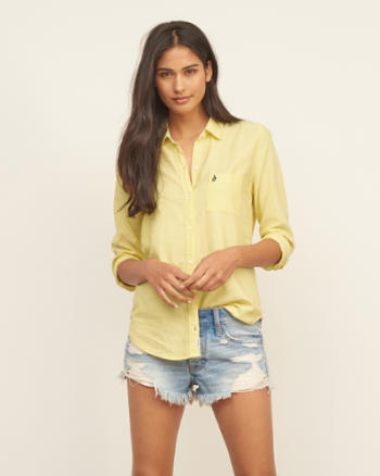 Womens Drapey Oxford Shirt