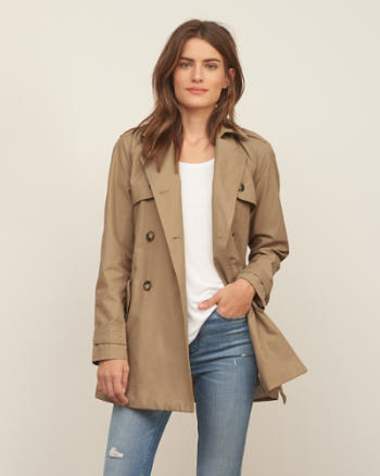ANF Classic Double-Breasted Trench Coat