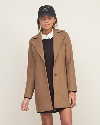 ANF Wool Long Peacoat