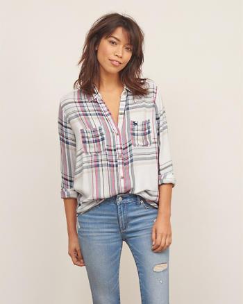 ANF Plaid Pocket Shirt