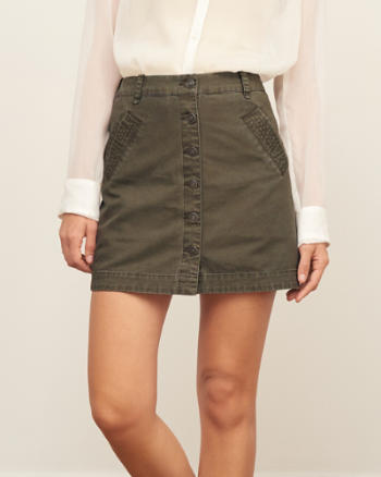 Womens Utility A-Line Skirt