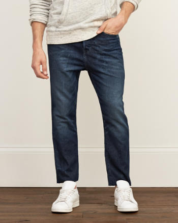 Mens Slim Straight Crop Jeans