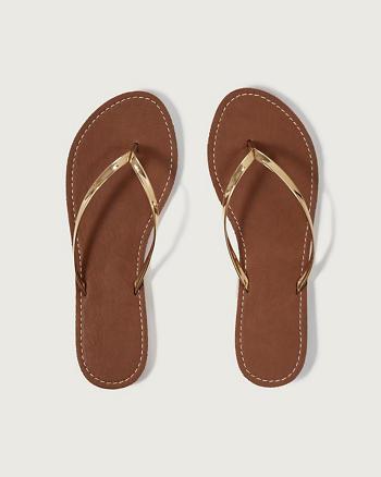 ANF Metallic Flip Flops