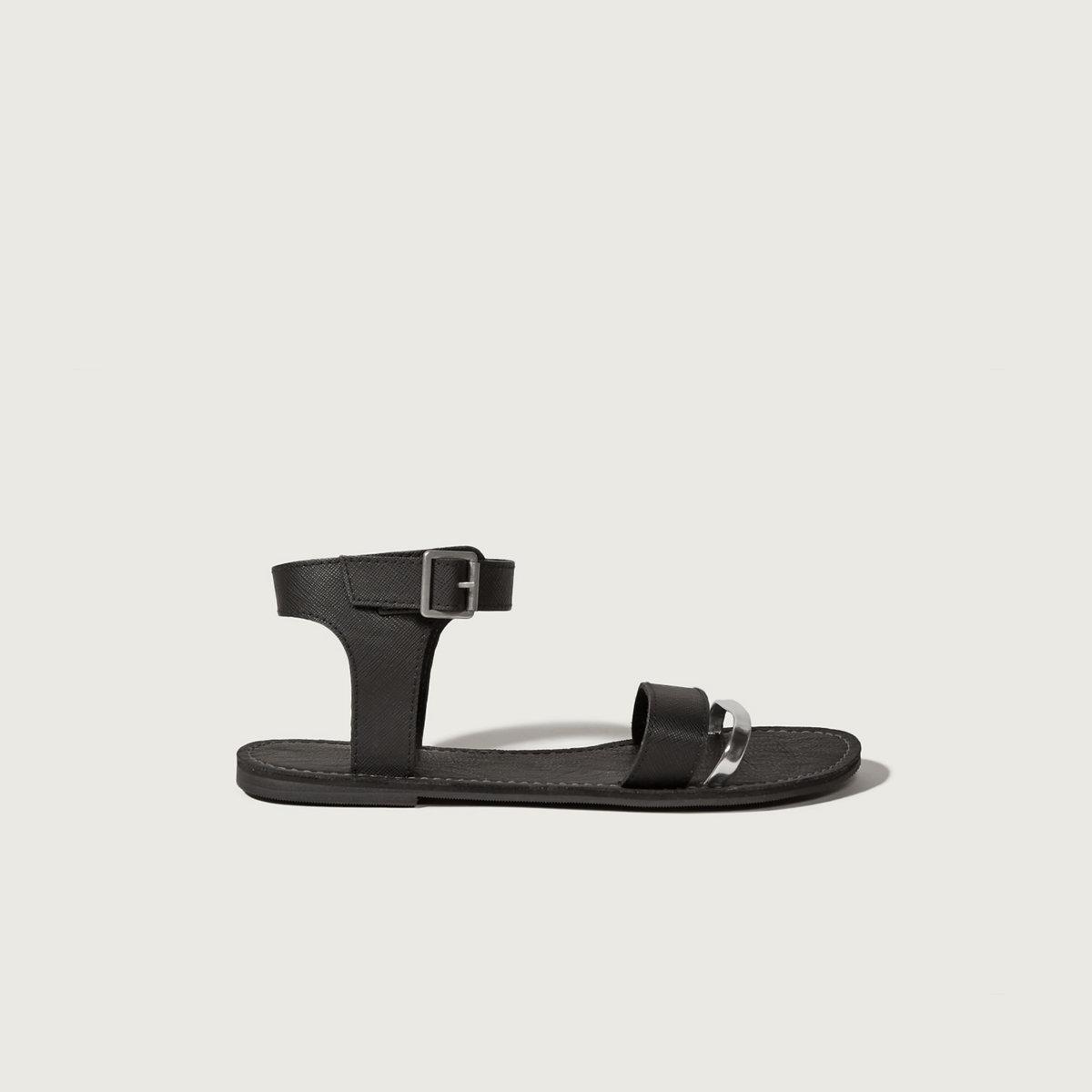 Metallic Strappy Sandals