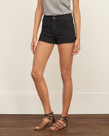 ANF High Rise 2 Inch Stretch Denim Shorts