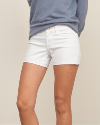 Womens Low Rise 4 Inch Denim Shorts