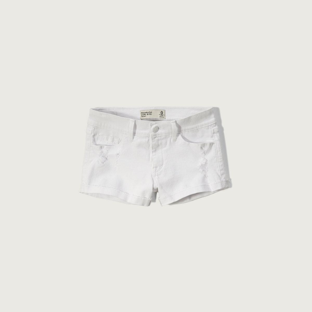 Low Rise 2 Inch Stretch Denim Shorts