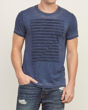 Mens Stripe Graphic Tee