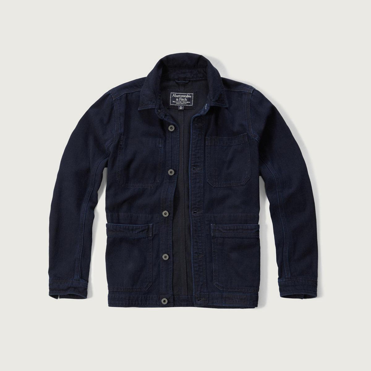 A&F True Indigo Dye Work Jacket