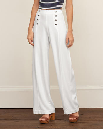 ANF Wide Leg Sailor Pants