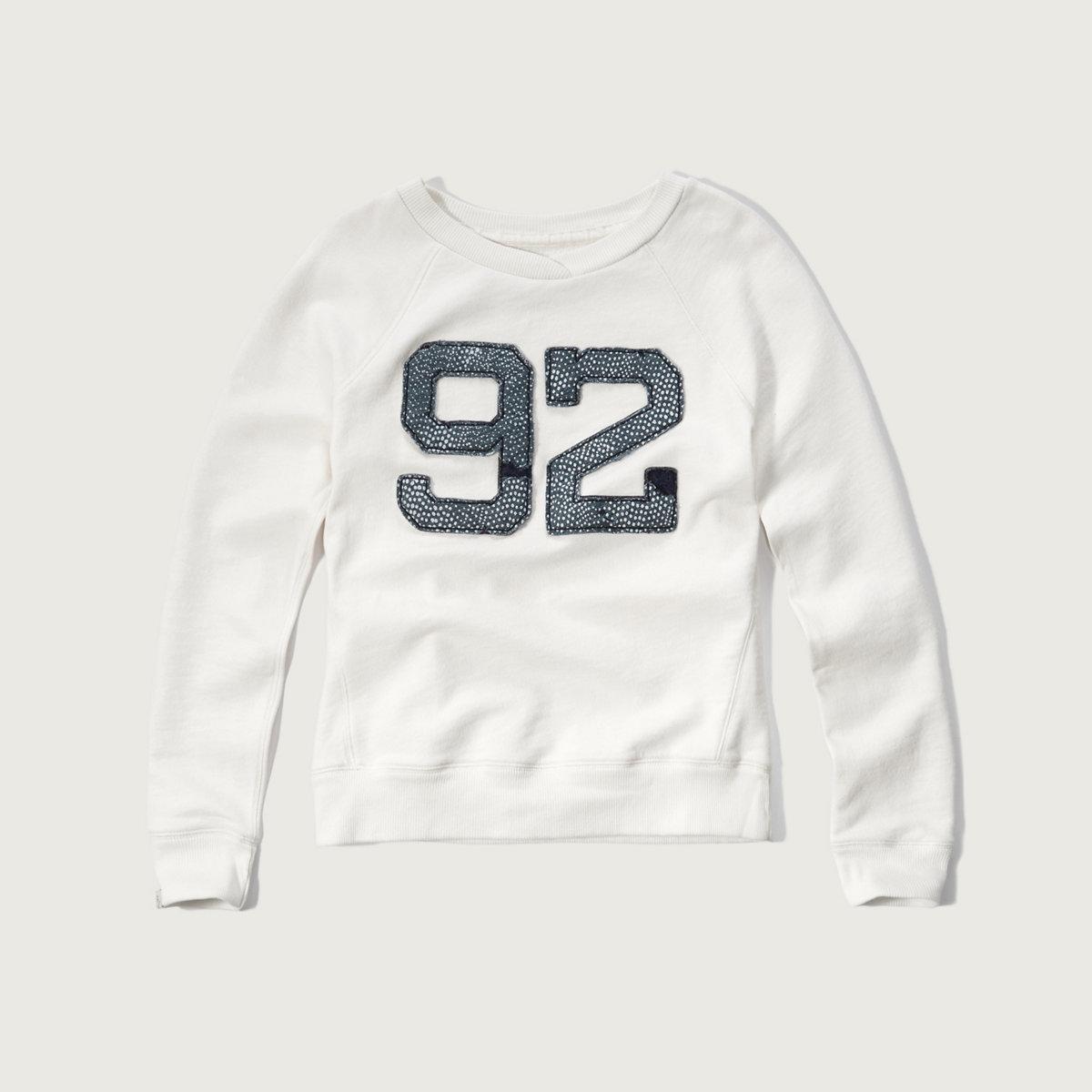 Applique Logo Crew Sweatshirt
