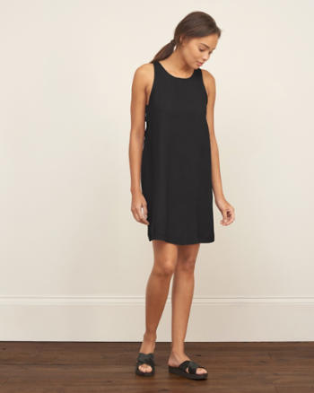 Womens Side Cutout Shift Dress