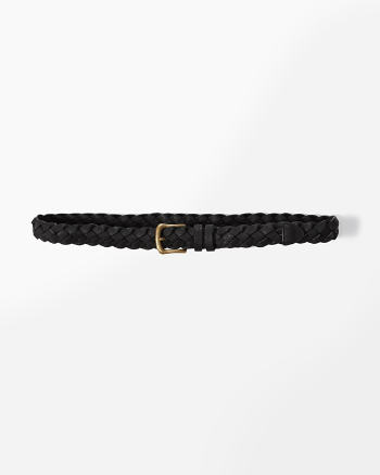 ANF Faux Leather Braid Belt